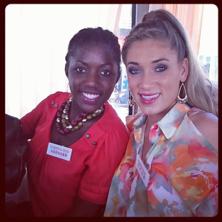 Marielle with roommate Miss St. Kitts