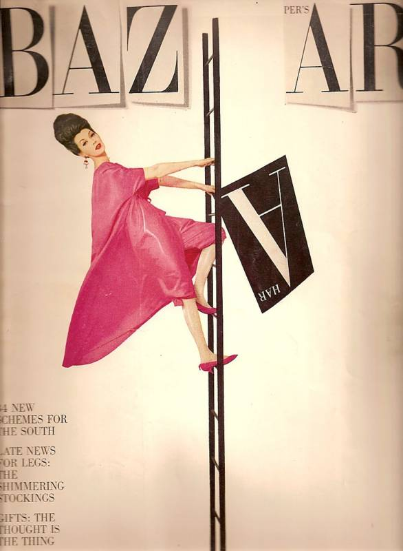 The game-changing cover of Harper's Bazaar(1959)featuring Machado as first non caucasian cover model