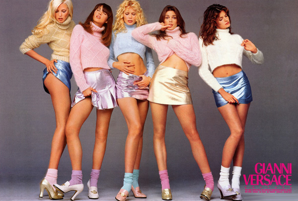 One of the many Versace campaigns Nadja (first from left) was featured in
